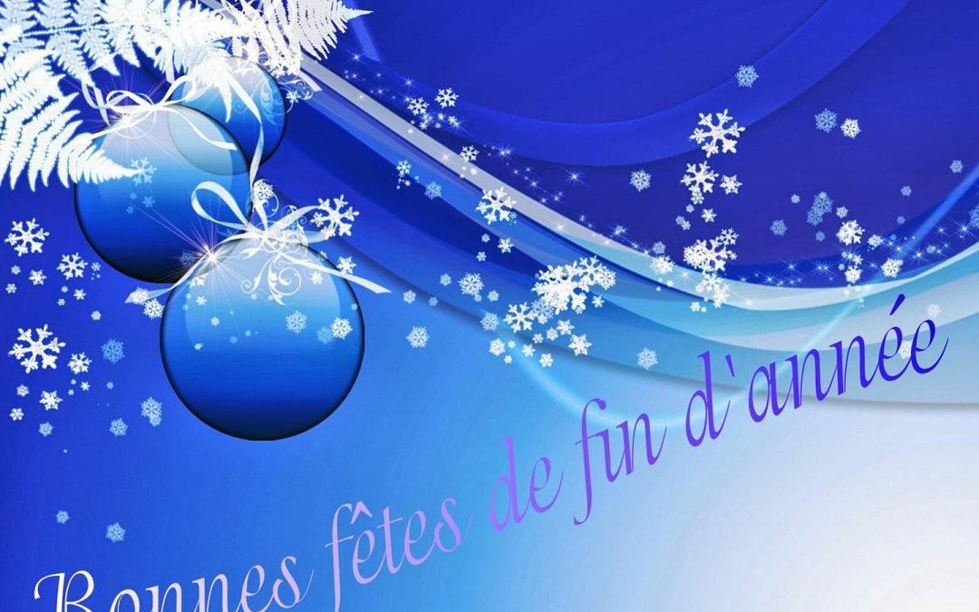 je vous souhaite à tous de bonnes fêtes de fin d'année