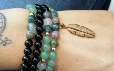 Mala de 108 perles à porter en collier ou en bracelet 39€  Bracelet 14€
